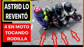 Imagen del video: MOTOS: ¡Récord de 4 en moto tocando rodilla!