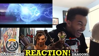 "Overwatch Animated Short | ""Dragons"" REACTION!"