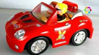 لعبة العربية الحمراء الجديدة للاطفال اجمل العاب السيارات البنات والاولاد new red car toy game