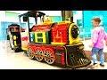 Eli rides on Color Train