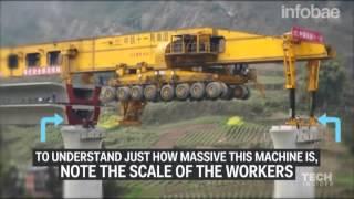 Máquina para construIr puentes en China