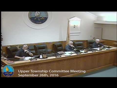 Upper Township Committee Meeting 9/26/16