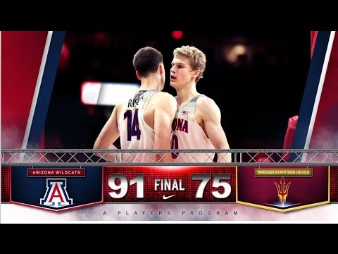 Highlights: Wildcats Roll to 91-75 Win Over Arizona State