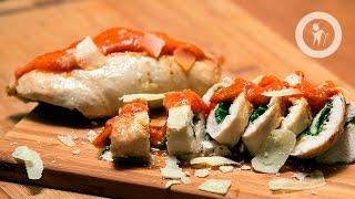 Куриные рулетики со свежим шпинатом и сыром