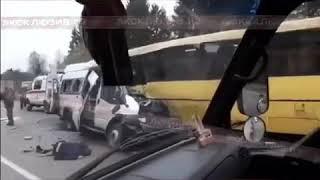 Первое видео с места страшного ДТП под Тверью