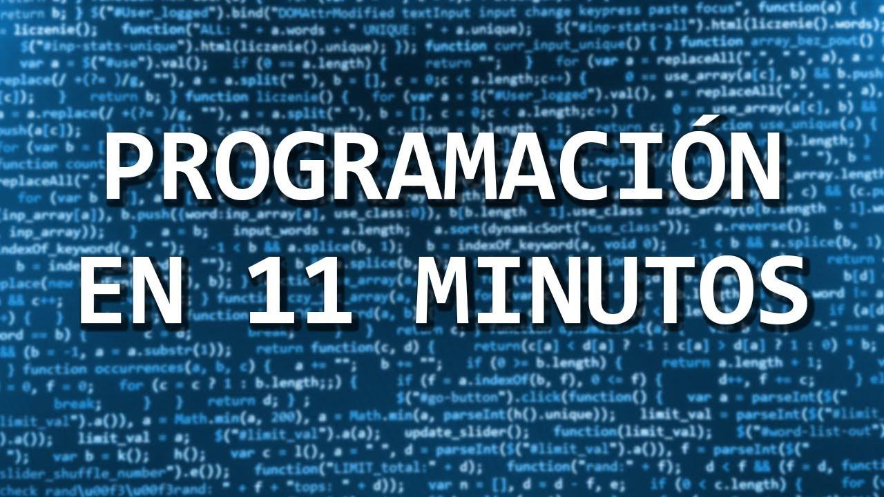 Aprende a programar en 11 minutos
