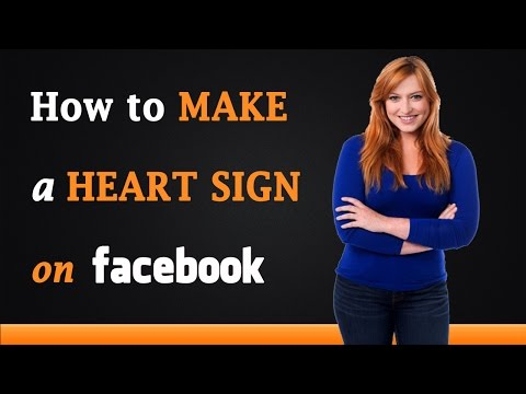 How to Make a Heart Sign on Facebook