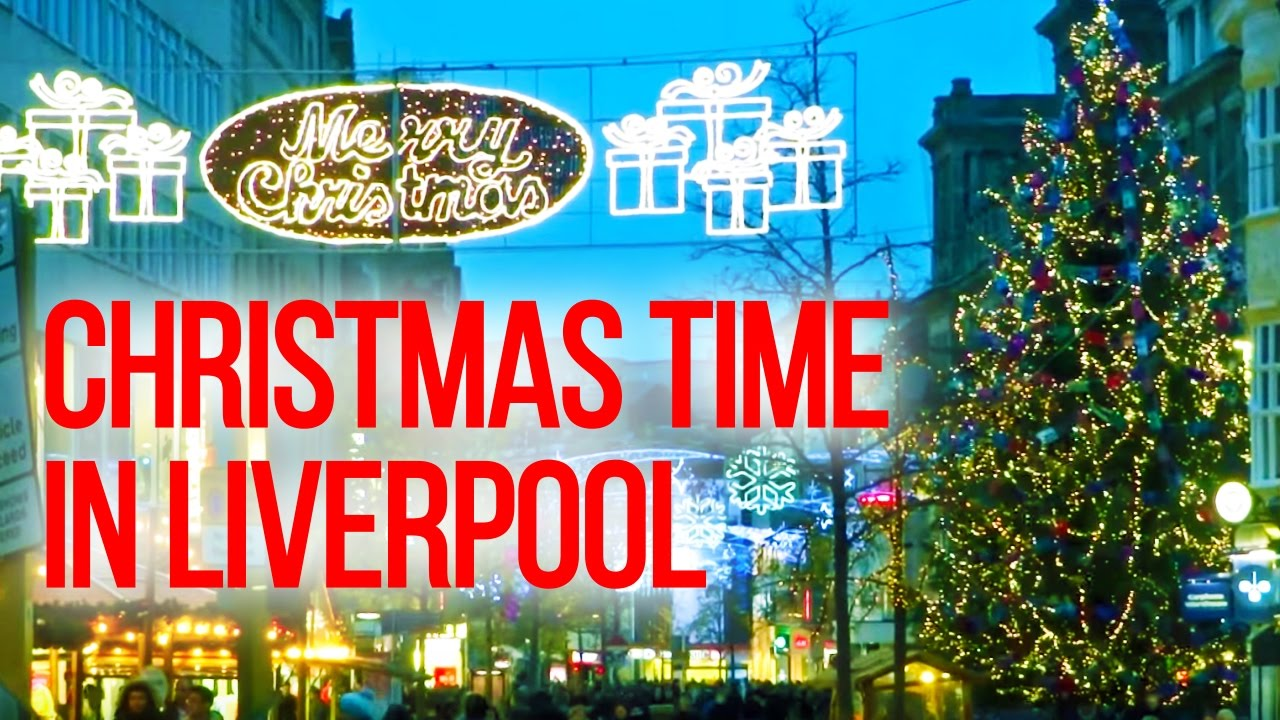 Christmas In England.The Uk Today Liverpool City Centre At Christmas Time England