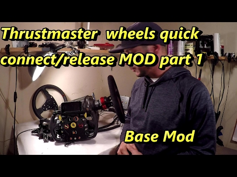Thrustmaster wheel quick release/connect mod. part 1