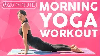 Morning Yoga (20 minutes) Power Yoga Workout to Start Your Day | Sarah Beth Yoga