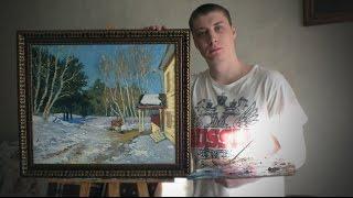 """Копия картины Левитана """"Март"""""""