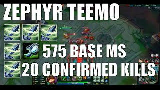 5 ZEPHYR TEEMO? 17 KILLS? (EPIC BACKDOOR VICTORY)