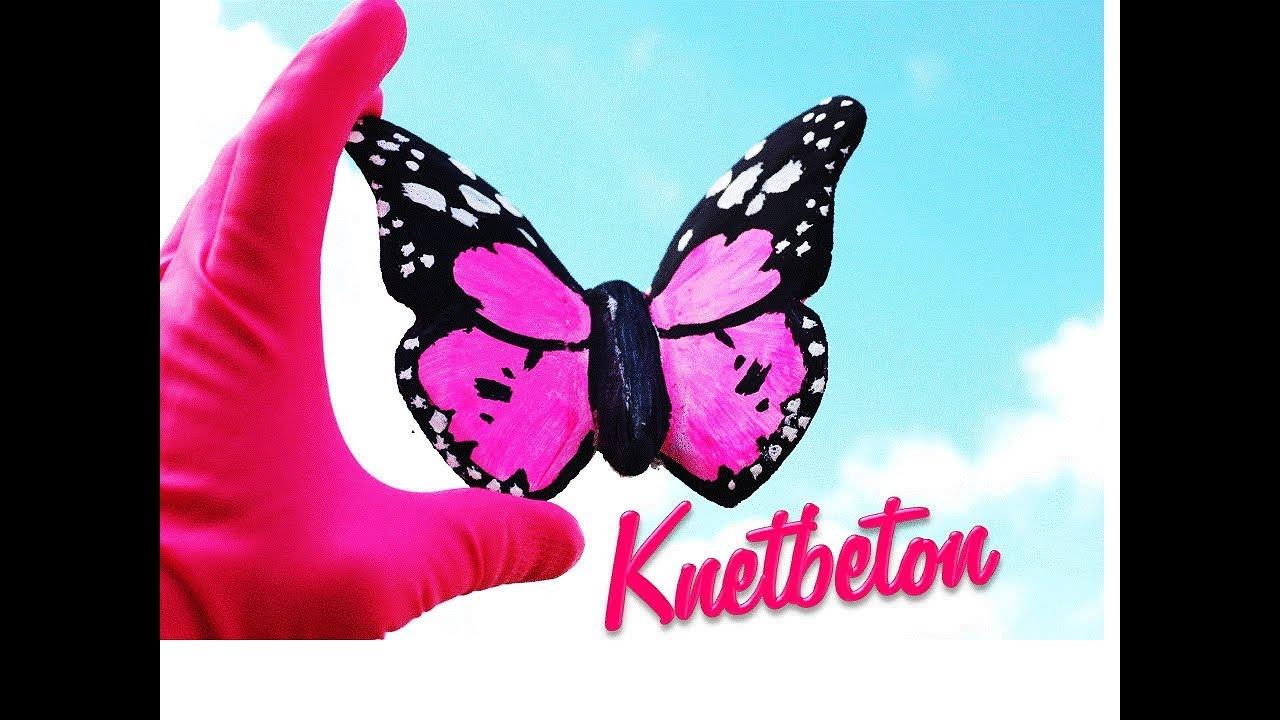 DIY || SCHMETTERLINGE aus KNETBETON | Deko aus Beton | Bilder ...