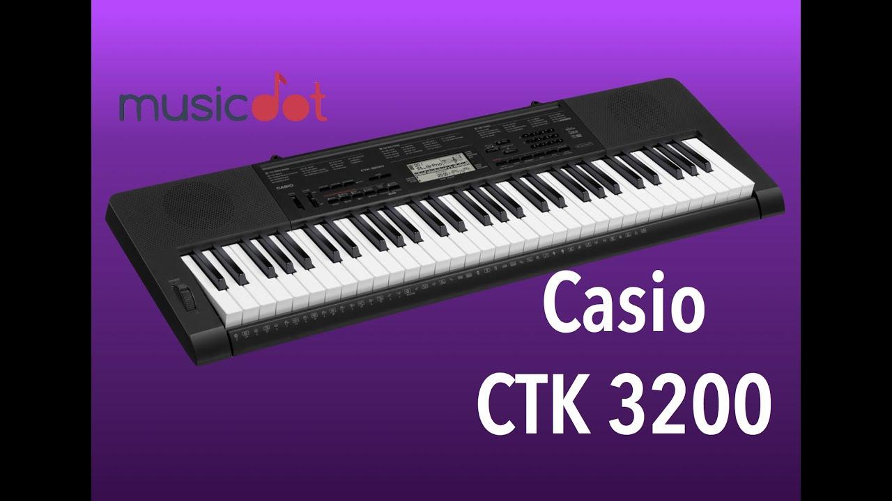 59041800b0f Review Casio Ctk 3200 (demo) - YouTube
