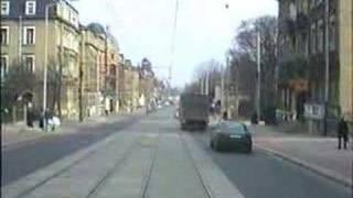 Straßenbahnfahrt in Dresden 4.