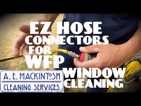 EZ Hose Connectors For Water Fed Pole Window Cleaning