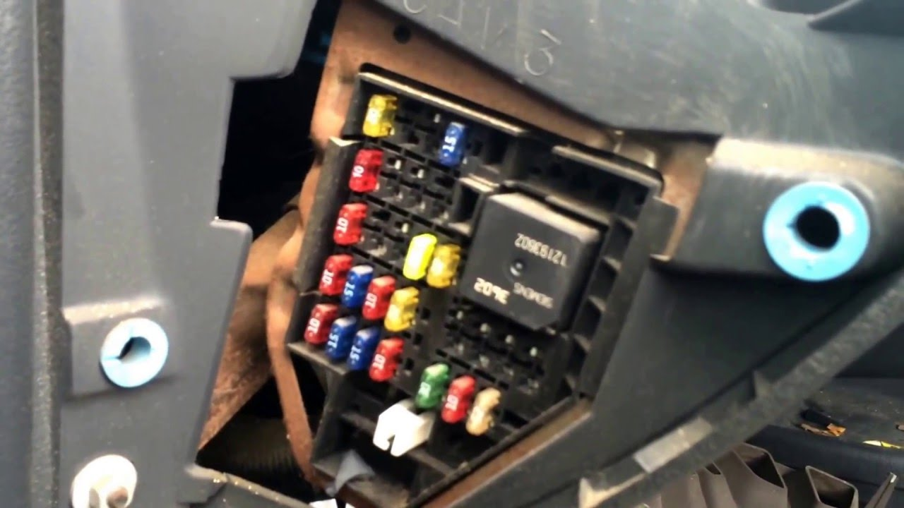 Chevy Cavalier 1995-2005 Fuse Box Location - YouTube