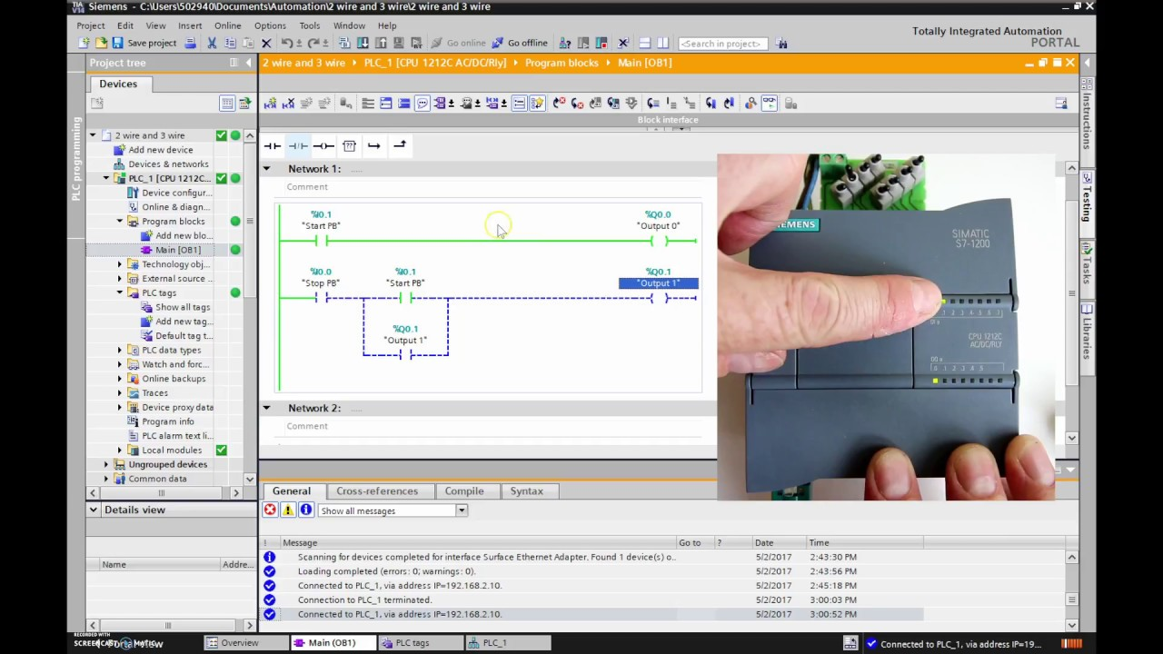 siemens tia portal tutorial 2 wire and 3 wire youtube