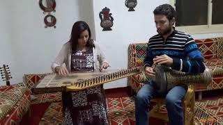 اغنية يامسهرنى - من مقام راست دو - اعداد استاذ سهاد نجم - عزف قانون وسام شبانه وايقاع أحمد غراب