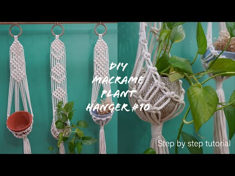 how-to-make-a-super-cute-and-simple-macrame-plant-hanger-#10- -easy-for-macrame-beginners