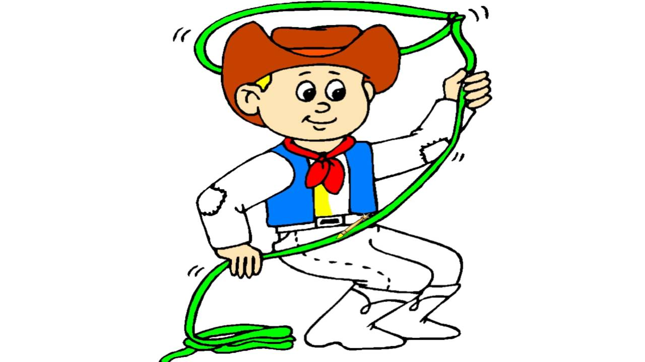 cowboy coloring page coloring book youtube