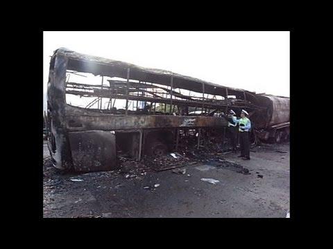 Tanker-bus crash inferno kills 36 in China
