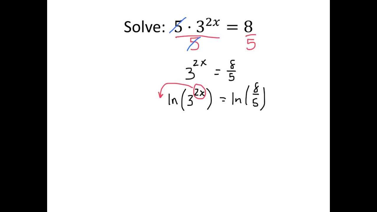 Example Solving Equations Using Logs 2   YouTube