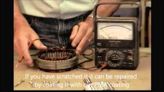 How to refurbish a permanent magnet alternator PMA and check rectifier diode