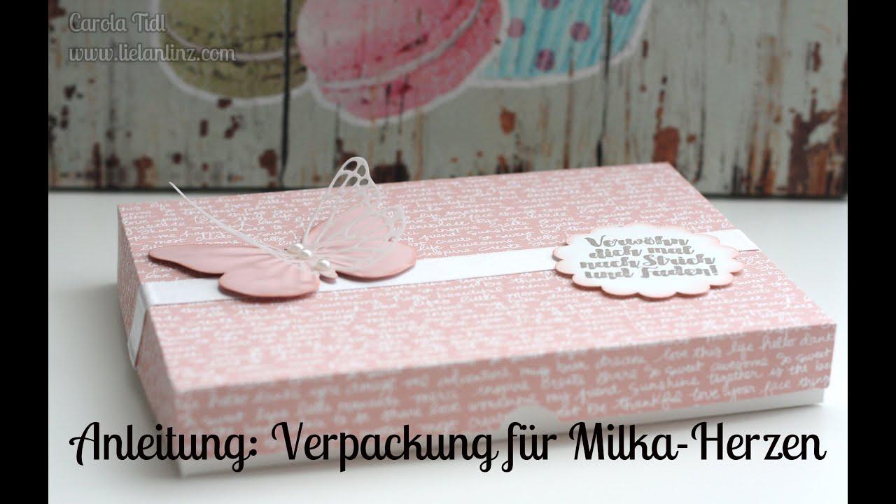 Anleitung Verpackung fr Milka Herzen  Stampin Up