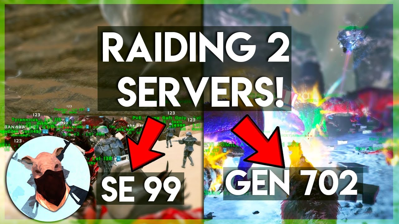 Raiding Scorched Earth 99 and Genesis 702! Ark Survival Evolved Official PVP