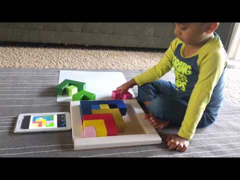 DIY Wooden logical puzzle - inspired by Waldorf Grimm's Square - pattern#3