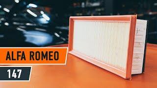 Montavimo Įsiurbimo vamzdis, oro filtras ALFA ROMEO 147: vaizdo pamokomis