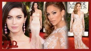 Megan Fox & Jennifer Lopez White Hot Style Golden Globes 2013 RED