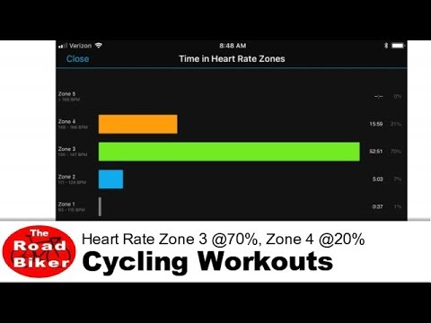 Cycling Workout Outdoors | Heart Rate Zone 3 @70%, Zone 4 @20% | 25 Minutes