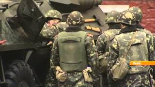 Львовские военные выражают поддержку своим коллегам в Крыму