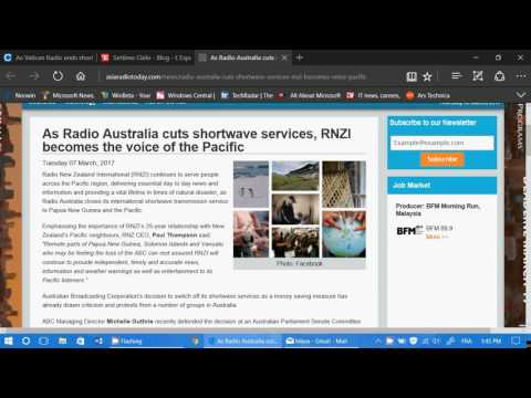 Shortwave Radio News March 8th 2017 Vatican radio leaves shortwave RNZI continues