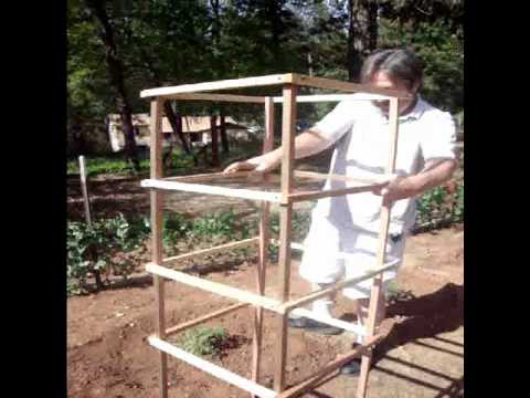 Removal And Storage Of Wooden Tomato Cage