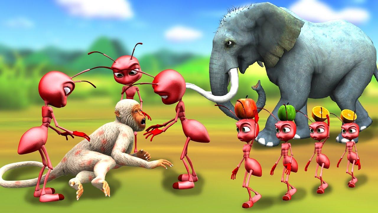 हाथी और चीटियों का मित्रता Elephant and Ant friendship Hindi Kahaniya हिंदी कहनिया Hindi Stories