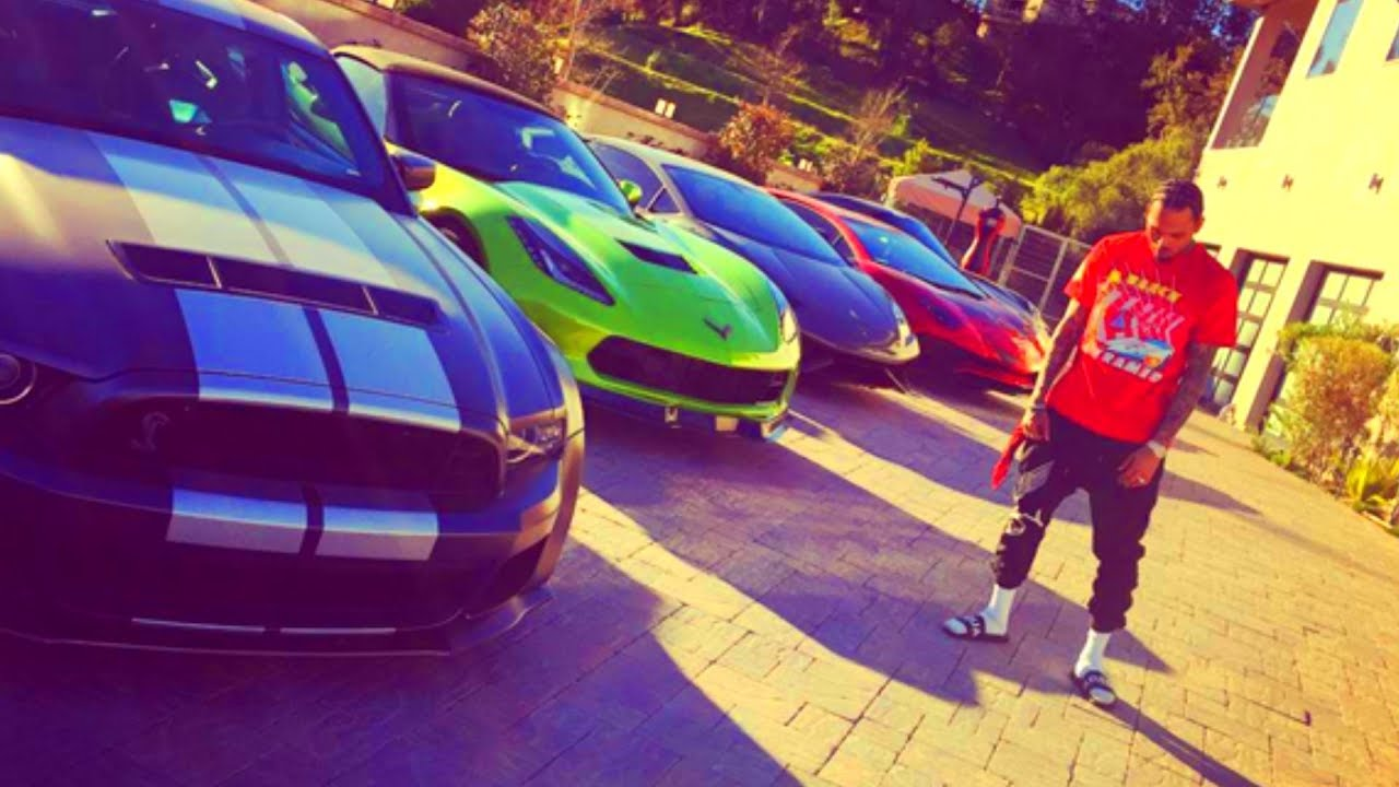 Chris Brown - Car Collection 2017 (Lamborghini, Rolls Royce, Corvette,  Mustang, And More) - YouTube