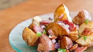 Теплый картофельный салат с беконом рецепт