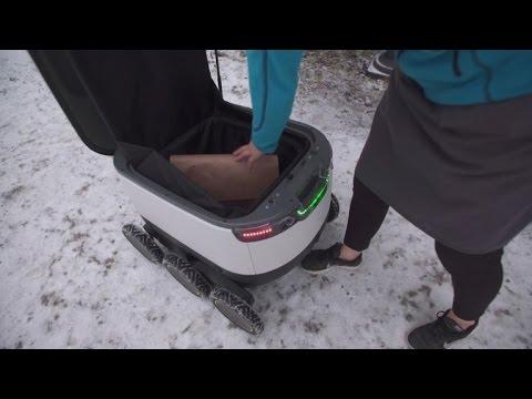 Estonian robots make food deliveries