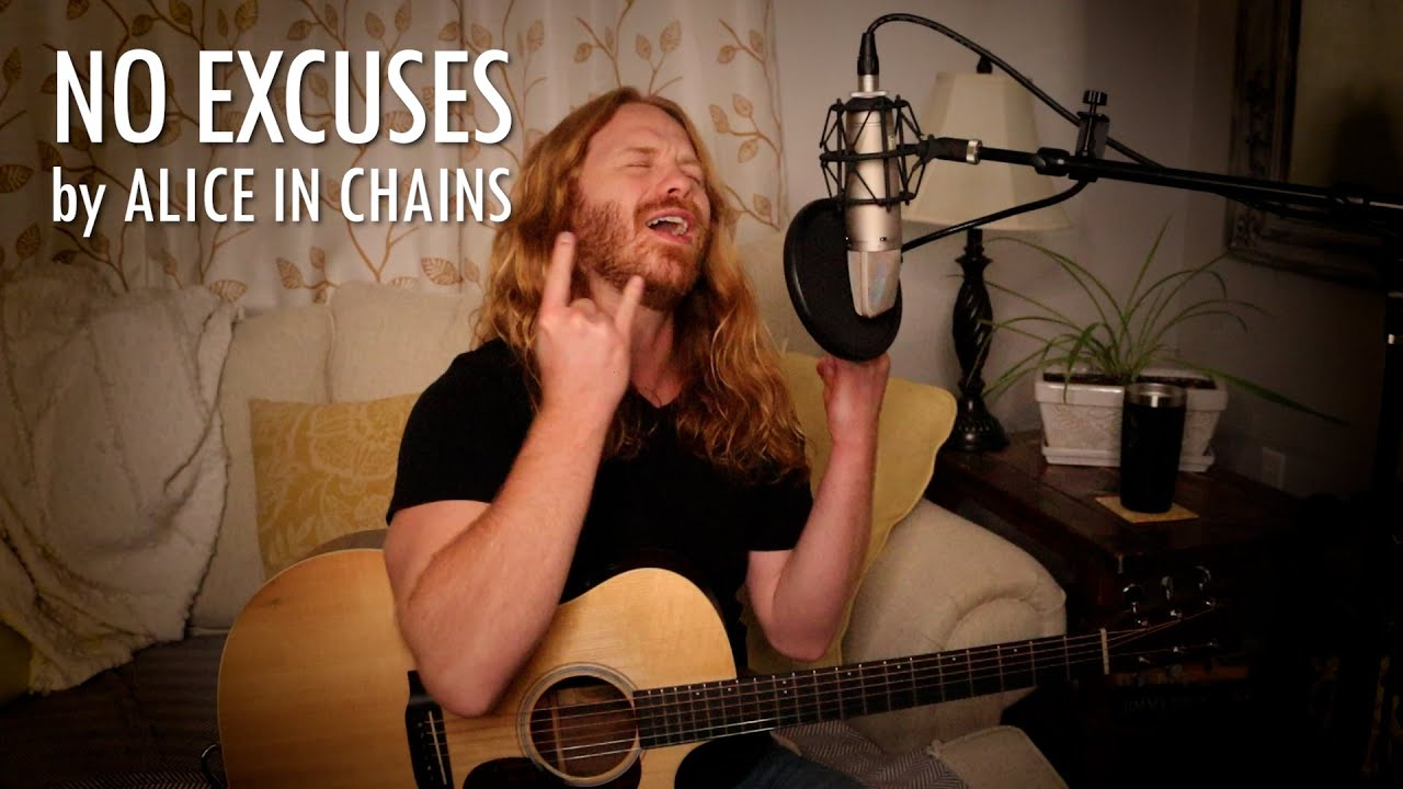 """No Excuses"" by Alice in Chains - Adam Pearce (Acoustic Cover)"