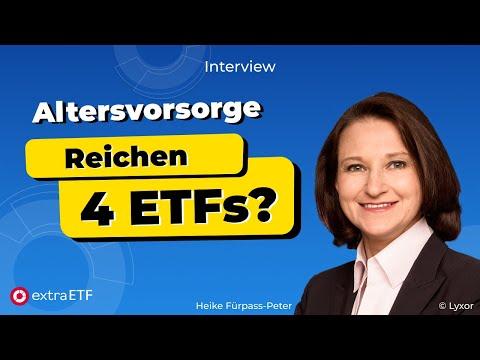 Altersvorsorge mit ETFs: Nur vier ETFs reichen aus