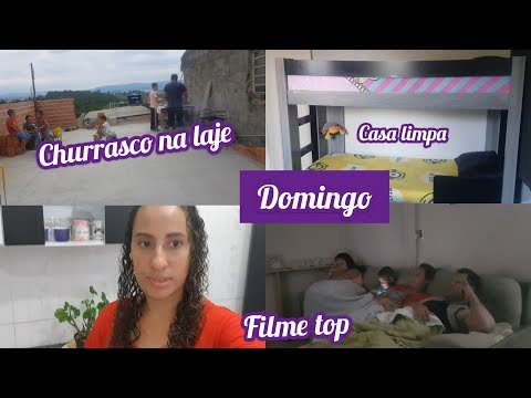 Domingo/ Churrasco na Laje/ Casa Limpa/ Assistimos filme || Na casa da Ju