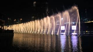 Dubai Mall Fountain Show - Whitney Houston's I Will Always Love You
