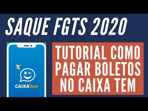 FGTS 2020 - Saque do FGTS - Tutorial CAIXA TEM - Como pagar boletos no Caixa TEM