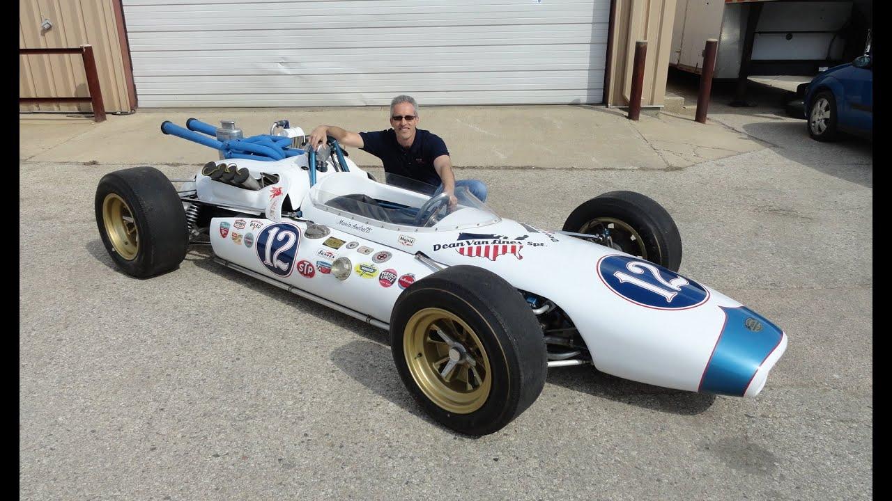 1965 Indy 500 Race Car Brawner Hawk Mario Andretti Rookie Car # 12 ...