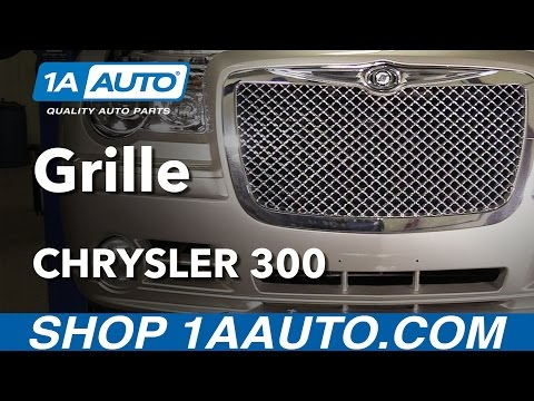 How to Install Replace Front Grille 2006 Chrysler 300