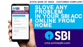 How To Complaint Any Problem In Your SBI Account Online State Bank of India