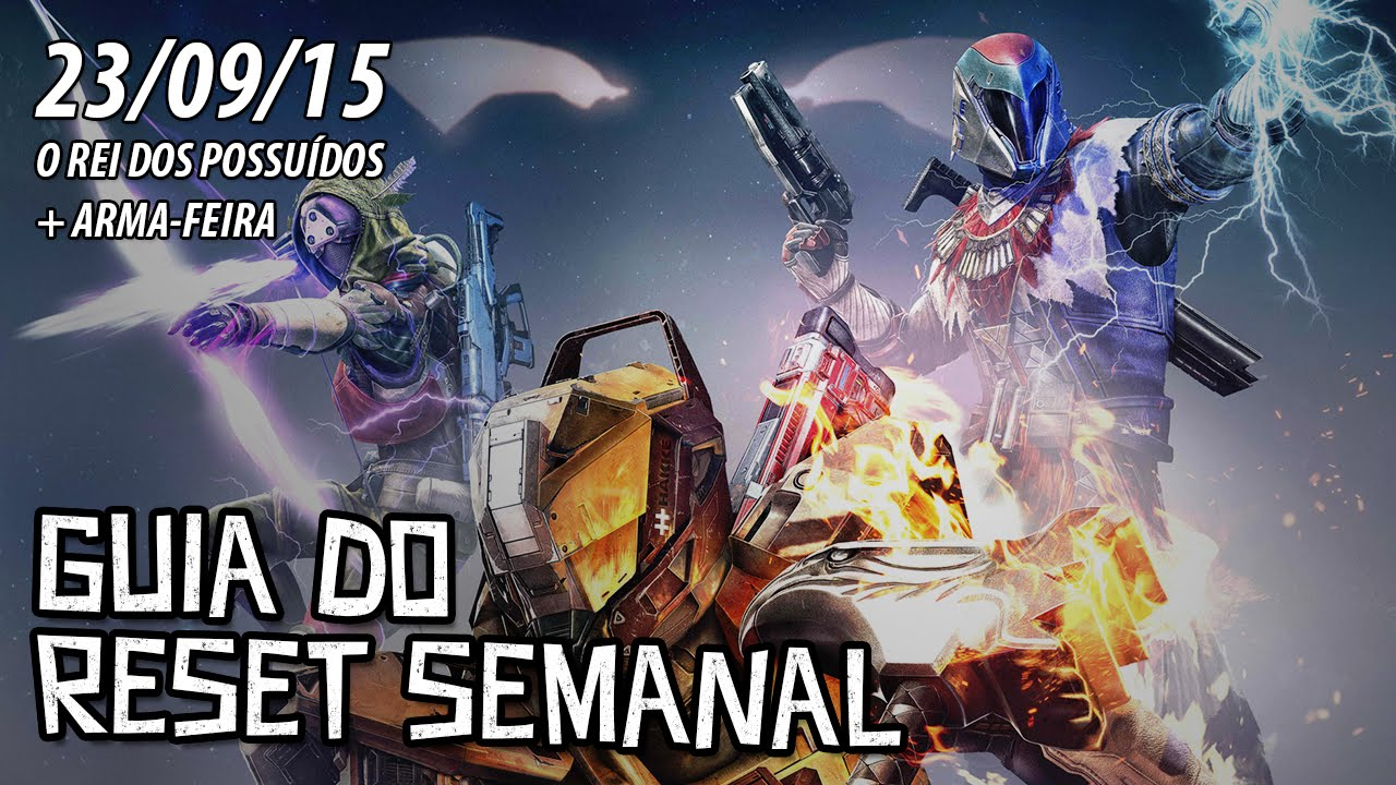 Destiny guia do reset semanal arma feira 23 9 15 youtube